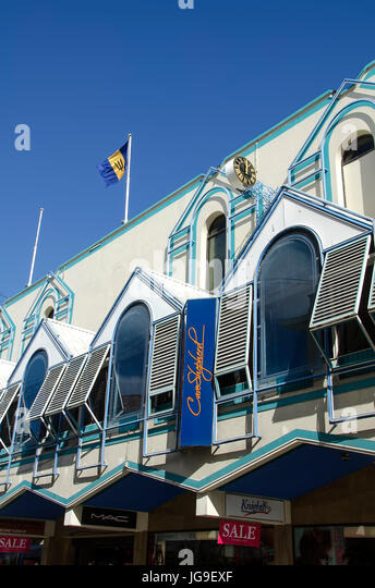 Cave Shepard department store mall in Bridgetown Barbados is one of the Caribbean's largest department stores. - Stock Image