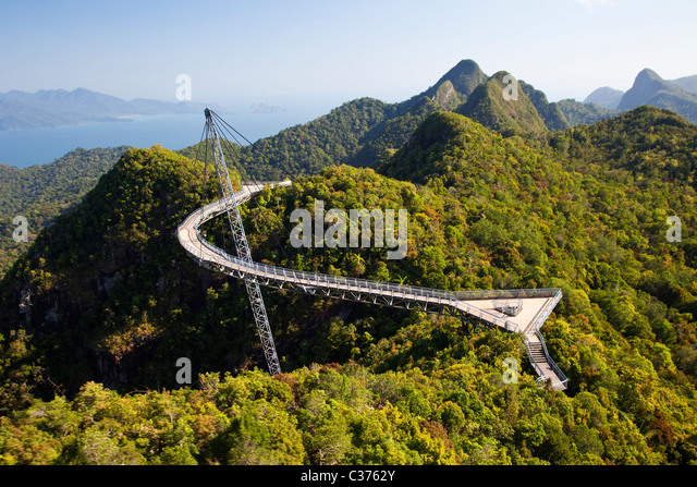 Langkawi Sky Bridge, Malaysia - Stock Image