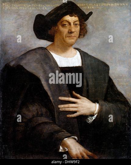 Portrait of Christopher Columbus - by Sebastiano del Piombo, 1519 - Stock-Bilder