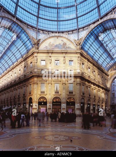 Mailand, Galleria  Vittorio Emanuele II., Vierung - Stock Image