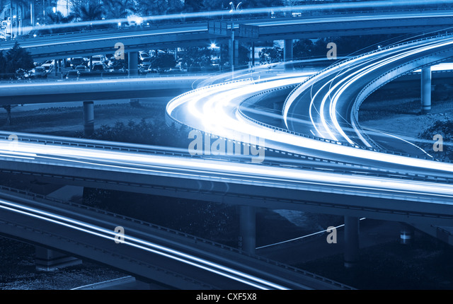 overpass at night - Stock Image