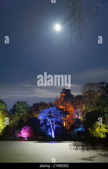 Enchanted garden at Halloween in the grounds of Mount Stewart, Northern Ireland. - Stock-Bilder