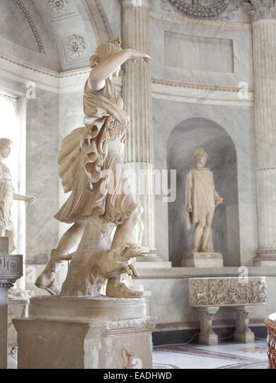 Antique Marble Sculptures In the Vatican - Stock-Bilder