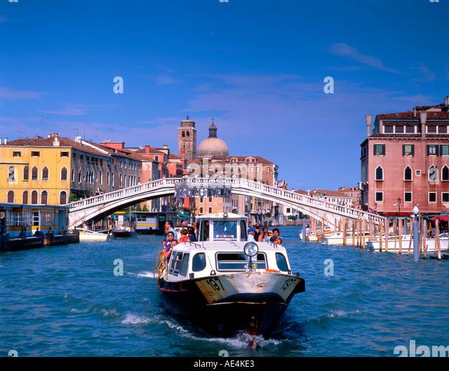 Italy Venice Canale Grande vaporetto boat - Stock Image