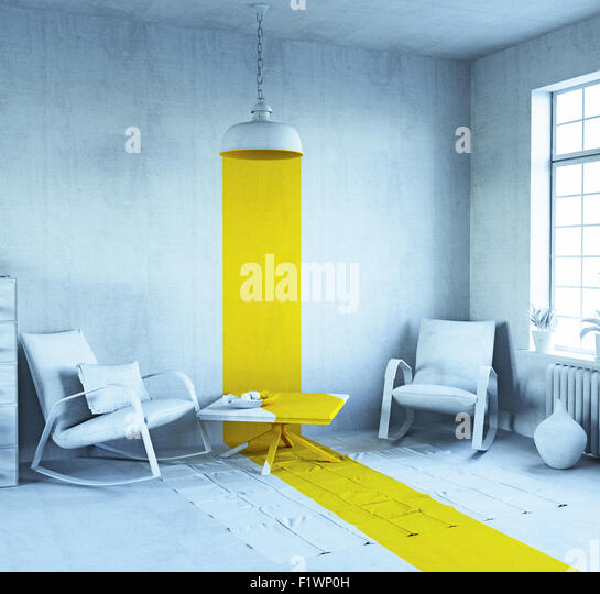 concept art - style interior. 3d rendering - Stock Image
