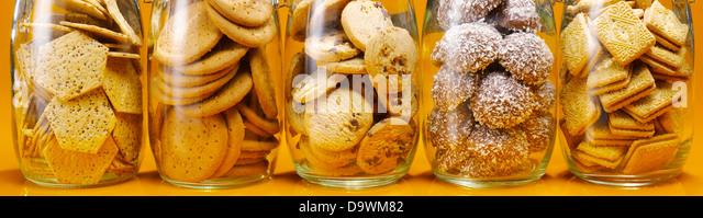 cookies jars - Stock Image