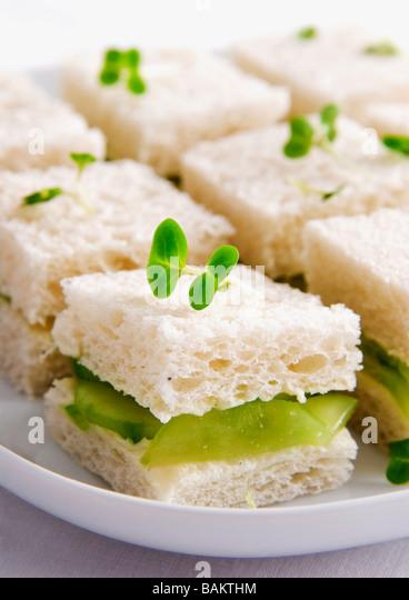 cucumber sandwiches - Stock Image