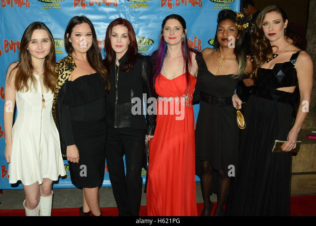 Kansas Bowling, Leilani Fideler, Priscilla Presley, Miranda Robin, Deryn Leah and Krista Fettke arrives at the 'BC - Stock Image