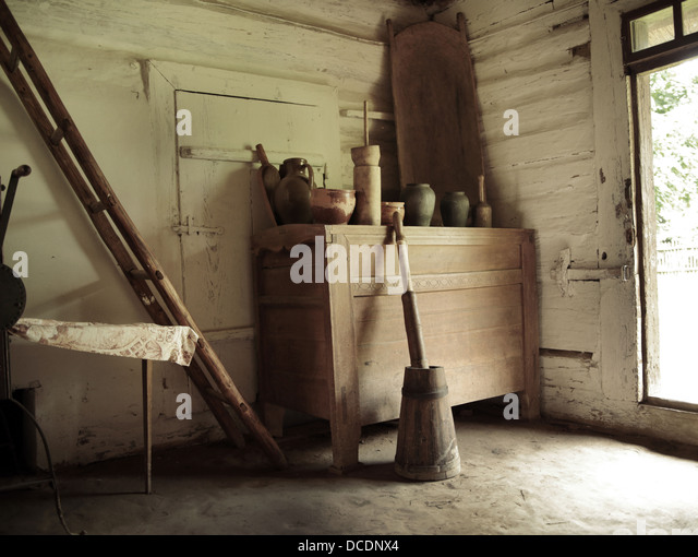 Picture presenting old country tools - Stock Image