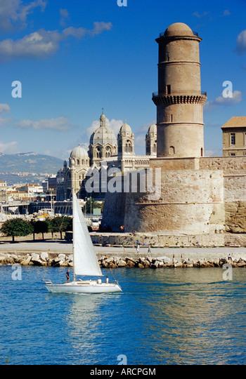 E marseille france stock photos e marseille france stock - Parking vieux port fort saint jean marseille ...
