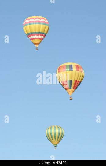 New Mexico Albuquerque hot air balloons - Stock Image