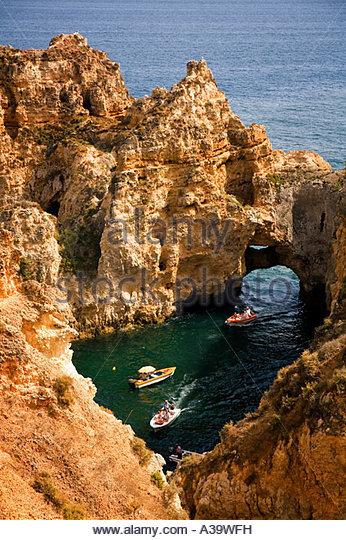 Portugal algarve near Lagos Ponta da Piedade - Stock Image