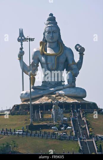 Asien, Indien, Karnataka, Murudeshwar, Shiva Statue - Stock-Bilder