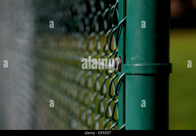 close up of wire fencing - Stock Image