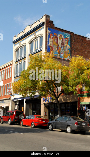 St Laurent street city of Montreal Canada - Stock Image
