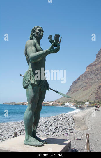 Statue, Valle Gran Rey, La Gomera, Canary Islands, Spain. - Stock-Bilder