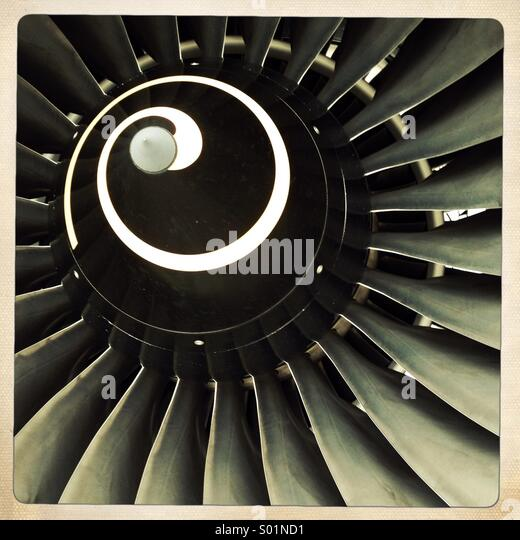aircraft engine - Stock Image