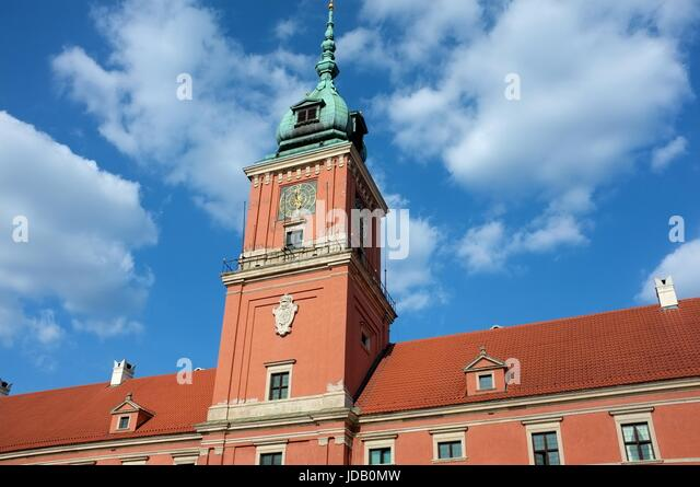 The Royal Castle on Castle Square in Warsaw, Poland, central/eastern Europe. June 2017. - Stock Image