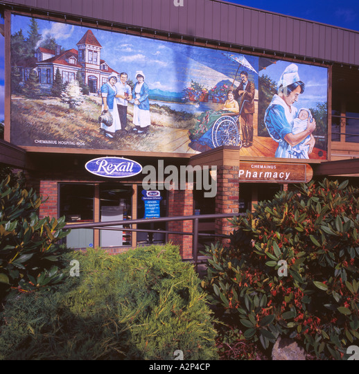 Chemainus mural stock photos chemainus mural stock for Mural vancouver