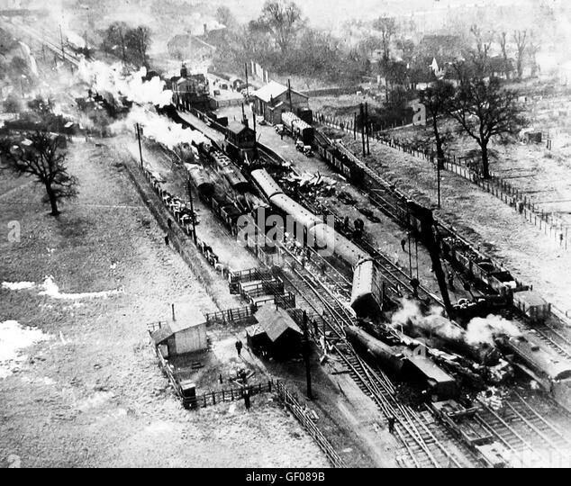 Potters Bar railway accident - 10th February 1946 - Stock Image