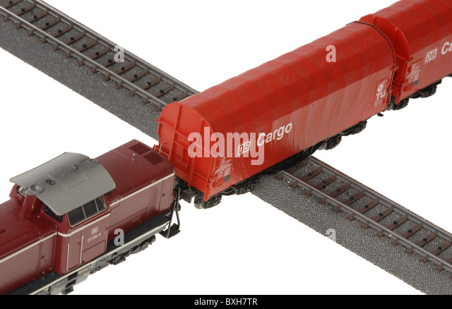 toy, model railway, symbolic, Germany,  strike ballot, , rail, travel by rail, rail, engine driver, engineer, rail - Stock Image