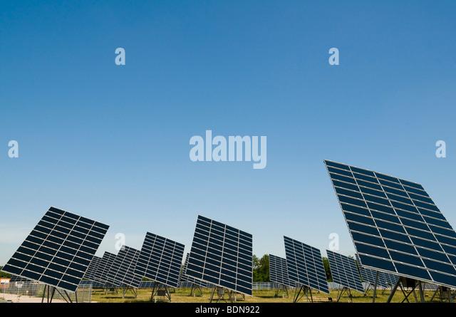 Solar energy plant - Stock Image