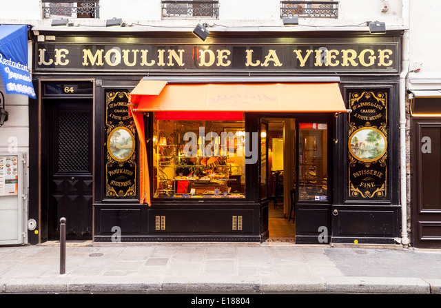 Paris bakery old stock photos paris bakery old stock images alamy - Moulin a cafe boulanger ...