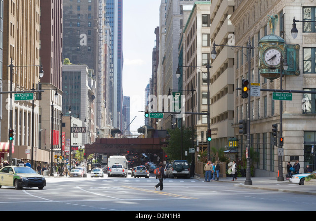 The Loop, Chicago, Illinois, United States of America, North America - Stock Image