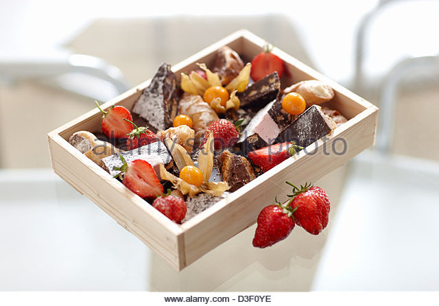 Cake box selection - Stock Image