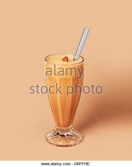 Toffee Milkshake - Stock Image