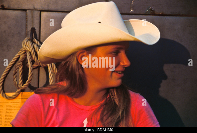 profile woman wearing cowboy hat stock photos amp profile