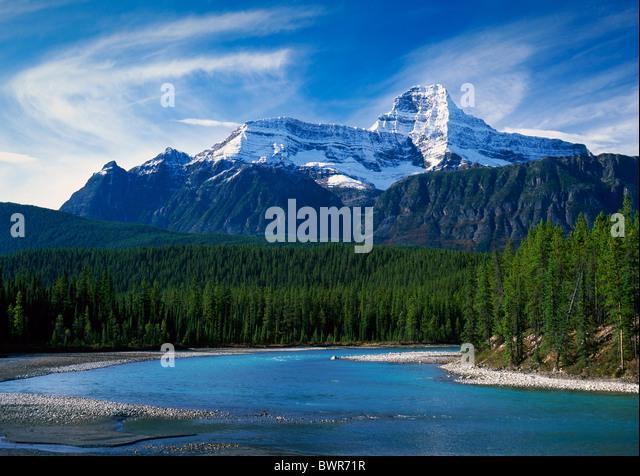 Canada North America America Rocky Mountains Alberta Province Jasper national park October 2007 North America - Stock Image