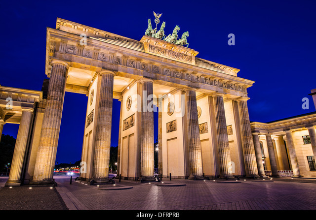 Brandenburg Gate in Berlin, Germany. Brandenburg Gate in Berlin, Germany. - Stock-Bilder