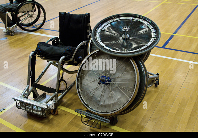 Sports wheelchair parts - Stock Image