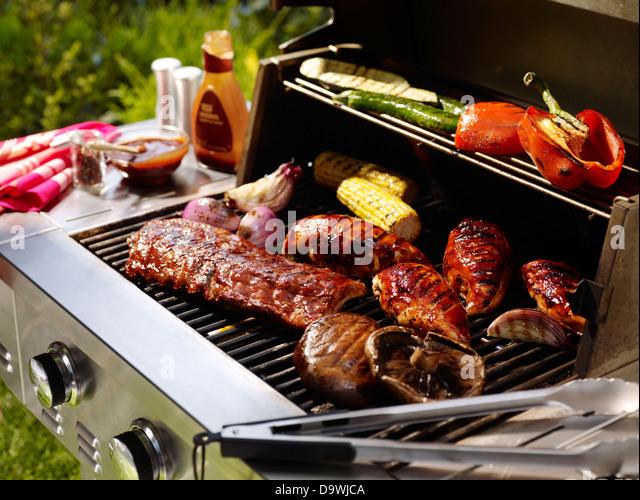 Summer BBQ - Stock Image