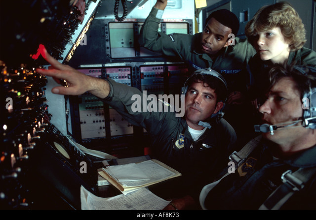 Delaware Dover Air Force Base Navy C5 inflight navigators military training - Stock Image