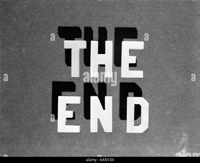 1930s THE END RETRO MOVIE TITLE - Stock Image