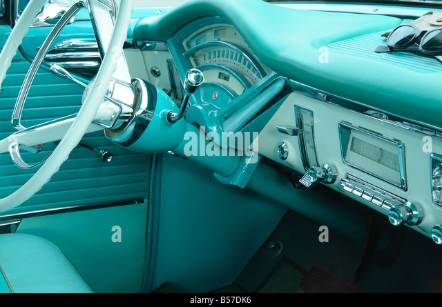 1950s Car Dashboard - Stock Image