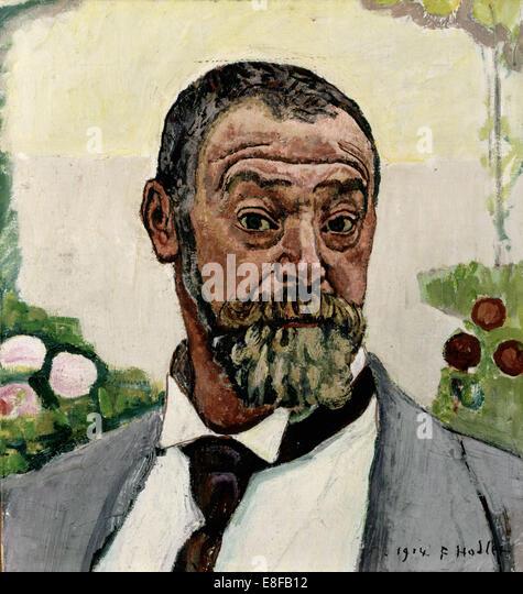 Self-Portrait. Artist: Hodler, Ferdinand (1853-1918) - Stock Image
