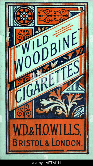 1930s 1940s 1950s 1960s Wills Wild Woodbine Cigarettes  pack or packet FOR EDITORIAL USE ONLY - Stock Image