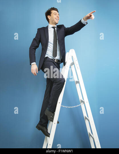 Lucky guy finding the success - Stock Image