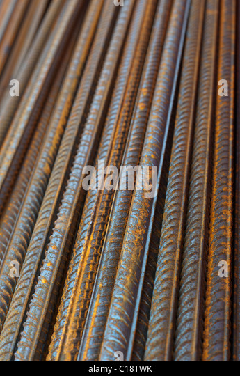 steel bars for concrete reeinforcement - Stock Image