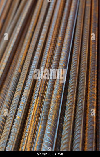steel bars for concrete reeinforcement - Stock-Bilder