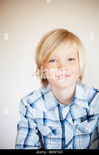 One boy - Stock Image