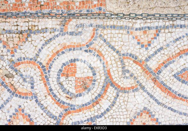 Roman Mosaic Floor at Ephesus, Selcuk, ?zmir Province, Aegean Region, Turkey - Stock-Bilder