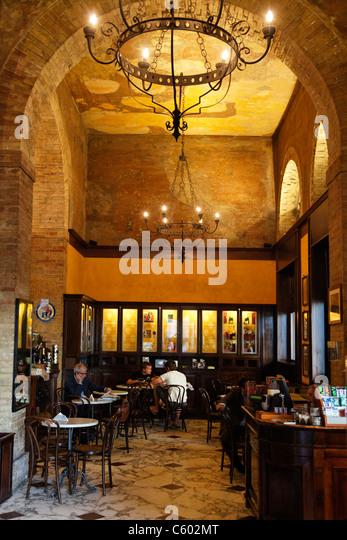 Cafe Suizzero, Cagliari , Italy Sardinia - Stock Image