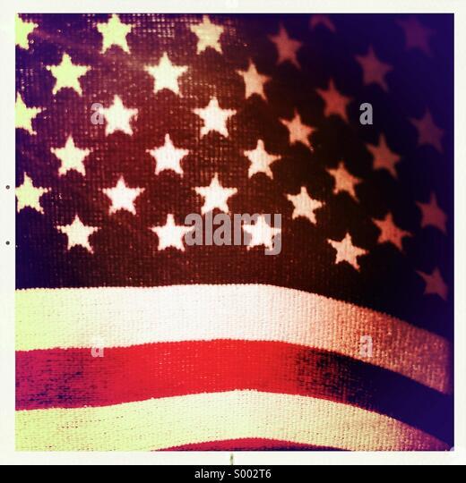 Close up of American Flag - Stock-Bilder