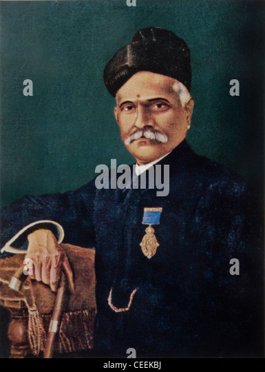 Raja Ravi Varma, the Indian painter  from the princely state of Travancore who achieved recognition from all over - Stock Image
