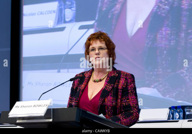 sharon bowles mep economic monetary affairs europe - Stock Image
