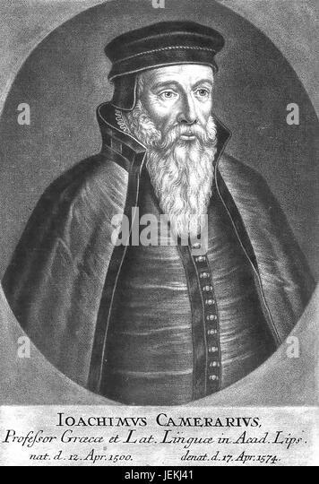 JOACHIM CAMERARIUS  (1500-1574) German humanist and poet - Stock-Bilder